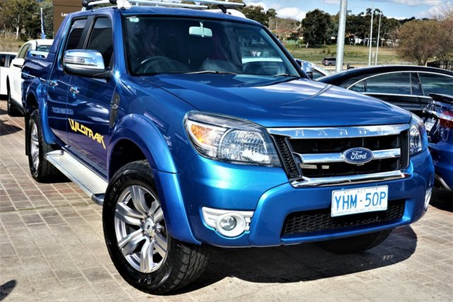 Used Ford Ranger PK Wildtrak Crew Cab Phillip, 2009 Ford Ranger PK Wildtrak Crew Cab Blue 5 Speed Automatic Utility