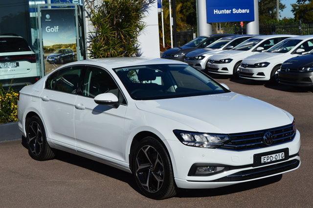 Demo Volkswagen Passat 3C (B8) MY21 140TSI DSG Business Maitland, 2021 Volkswagen Passat 3C (B8) MY21 140TSI DSG Business Pure White 7 Speed