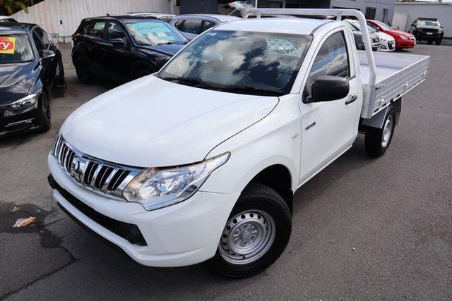 Used Mitsubishi Triton MQ MY16 GLX 4x2 Moorooka, 2015 Mitsubishi Triton MQ MY16 GLX 4x2 White 5 Speed Sports Automatic Cab Chassis