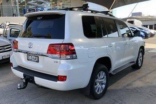 2020 Toyota Landcruiser VDJ200R LC200 VX (4x4) Crystal Pearl 6 Speed Automatic Wagon.