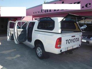 2009 Toyota Hilux KUN26R SR White 4 Speed Automatic Dual Cab