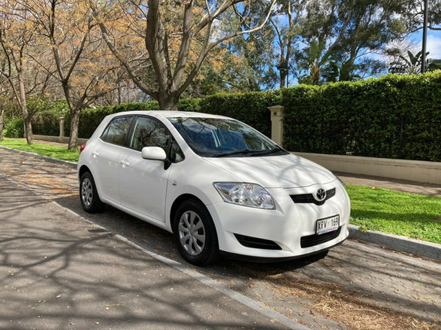 Pre-Owned Toyota Corolla ZRE152R Ascent Hawthorn, 2008 Toyota Corolla ZRE152R Ascent White 4 Speed Automatic Hatchback