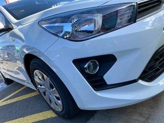 2021 Kia Rio YB MY22 S Clear White 6 Speed Automatic Hatchback.