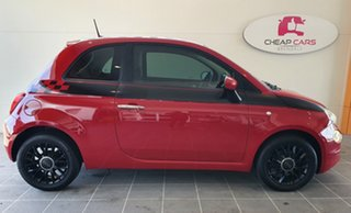 2015 Fiat 500 Series 3 Pop Dualogic Red 5 Speed Sports Automatic Single Clutch Hatchback.