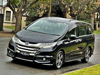 2016 Honda Odyssey RC MY16 VTi-L Black 7 Speed Constant Variable Wagon.