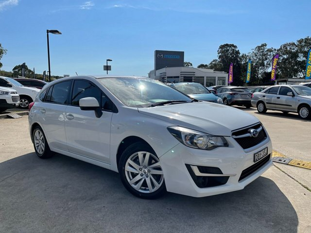 Used Subaru Impreza G4 MY15 2.0i Lineartronic AWD Glendale, 2015 Subaru Impreza G4 MY15 2.0i Lineartronic AWD White 6 Speed Constant Variable Hatchback
