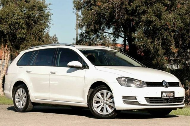 Used Volkswagen Golf VII MY16 92TSI DSG Comfortline Braeside, 2016 Volkswagen Golf VII MY16 92TSI DSG Comfortline White 7 Speed Sports Automatic Dual Clutch Wagon
