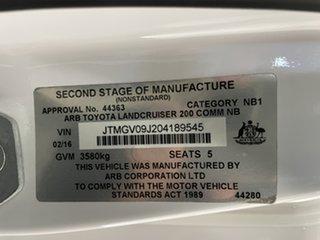 2016 Toyota Landcruiser VDJ200R GX White 6 Speed Sports Automatic Wagon
