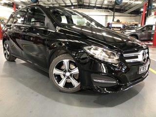 2016 Mercedes-Benz B180 246 MY15 Black 7 Speed Auto Direct Shift Hatchback.