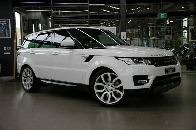 Used Land Rover Range Rover Sport L494 16MY SE North Melbourne, 2016 Land Rover Range Rover Sport L494 16MY SE White 8 Speed Sports Automatic Wagon
