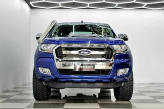 2016 Ford Ranger PX MkII MY17 XLT 3.2 (4x4) Blue 6 Speed Automatic Double Cab Pick Up