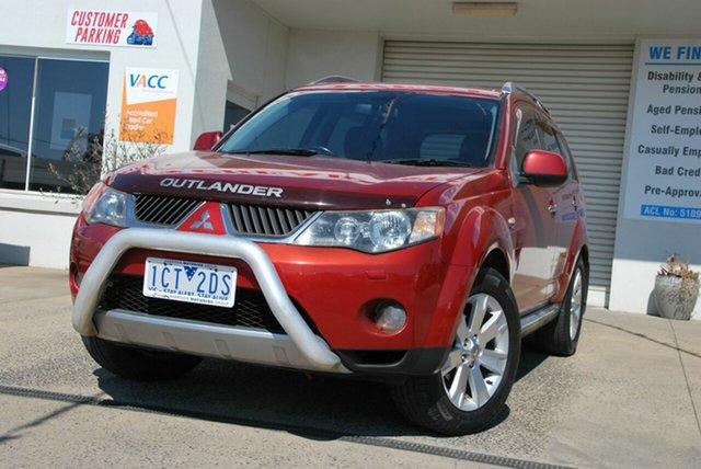 Used Mitsubishi Outlander ZG MY08 VR-X Luxury (7 Seat) Wendouree, 2008 Mitsubishi Outlander ZG MY08 VR-X Luxury (7 Seat) Red 6 Speed Auto Sports Mode Wagon