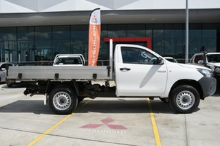 2017 Toyota Hilux GUN125R Workmate Double Cab White 6 Speed Sports Automatic Cab Chassis.