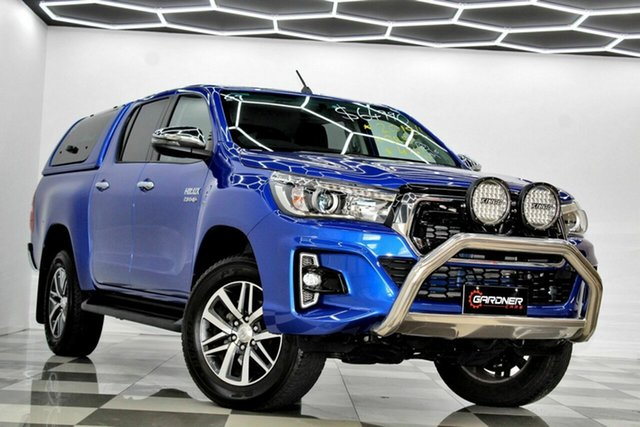 Used Toyota Hilux GUN126R MY19 SR5 (4x4) Burleigh Heads, 2018 Toyota Hilux GUN126R MY19 SR5 (4x4) Blue 6 Speed Automatic Double Cab Pick Up