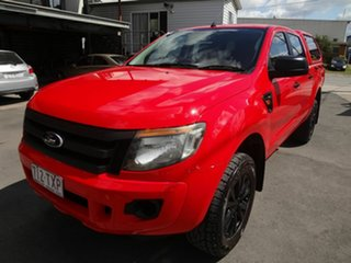 2014 Ford Ranger PX XL 2.2 Hi-Rider (4x2) Red 6 Speed Automatic Crew Cab Pickup