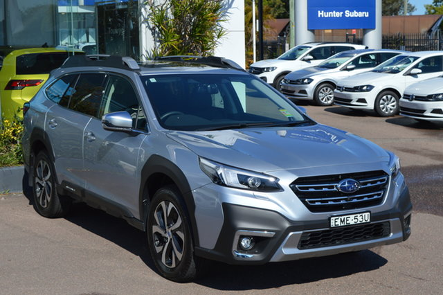 Demo Subaru Outback B7A MY21 AWD Touring CVT Maitland, 2020 Subaru Outback B7A MY21 AWD Touring CVT Ice Silver 8 Speed Constant Variable Wagon
