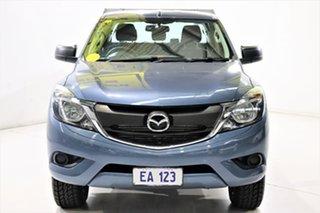 2017 Mazda BT-50 UR0YG1 XT 4x2 Hi-Rider Blue 6 Speed Manual Cab Chassis.