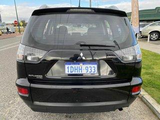 2010 Mitsubishi Outlander ZH MY10 LS Black 6 Speed CVT Auto Sequential Wagon