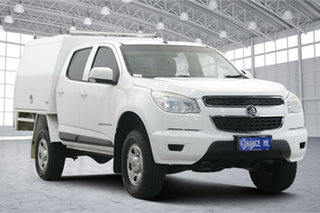 2015 Holden Colorado RG MY15 LS Crew Cab White 6 Speed Sports Automatic Cab Chassis.