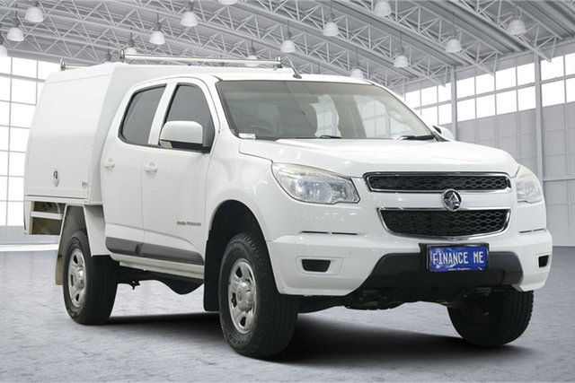 Used Holden Colorado RG MY15 LS Crew Cab Victoria Park, 2015 Holden Colorado RG MY15 LS Crew Cab White 6 Speed Sports Automatic Cab Chassis