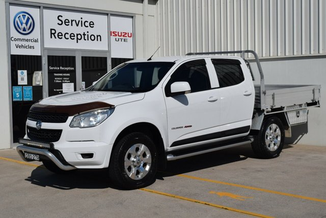 Used Holden Colorado RG MY15 LS Crew Cab Rutherford, 2015 Holden Colorado RG MY15 LS Crew Cab White 6 Speed Sports Automatic Cab Chassis