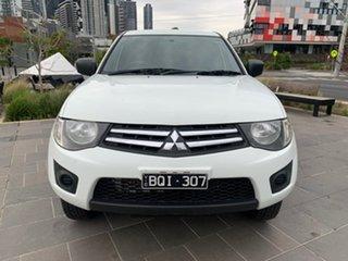 2013 Mitsubishi Triton MN MY13 GLX Double Cab 4x2 White 4 Speed Sports Automatic Utility.