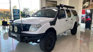 2011 Nissan Navara D40 RX White 5 Speed Automatic Utility.