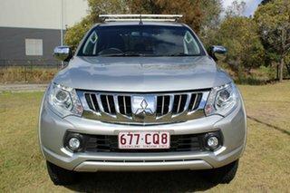 2016 Mitsubishi Triton MQ MY16 GLS Double Cab Silver 6 Speed Manual Utility.