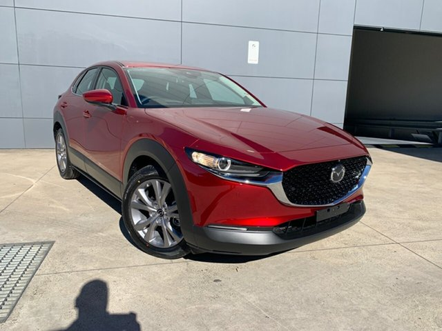 New Mazda CX-30 DM2W7A G20 SKYACTIV-Drive Evolve Alexandria, 2021 Mazda CX-30 DM2W7A G20 SKYACTIV-Drive Evolve Soul Red Crystal 6 Speed Sports Automatic Wagon