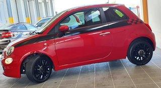 2015 Fiat 500 Series 3 Pop Dualogic Red 5 Speed Sports Automatic Single Clutch Hatchback