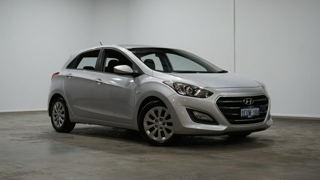 Used Hyundai i30 GD3 Series II MY16 Active Welshpool, 2015 Hyundai i30 GD3 Series II MY16 Active Silver 6 Speed Sports Automatic Hatchback