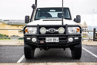 2018 Toyota Landcruiser VDJ79R GXL Double Cab White 5 Speed Manual Cab Chassis
