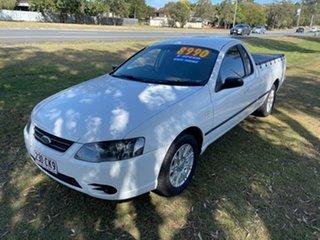 2006 Ford Falcon BF Mk II XL Ute Super Cab White 5 Speed Manual Utility.