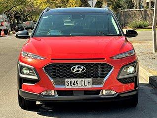 2017 Hyundai Kona OS MY18 Highlander D-CT AWD Orange 7 Speed Sports Automatic Dual Clutch Wagon.