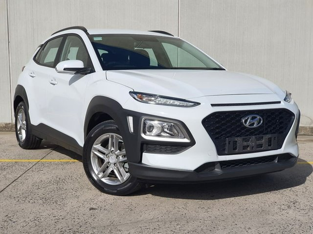 Used Hyundai Kona OS MY18 Active 2WD Oakleigh, 2018 Hyundai Kona OS MY18 Active 2WD White 6 Speed Sports Automatic Wagon