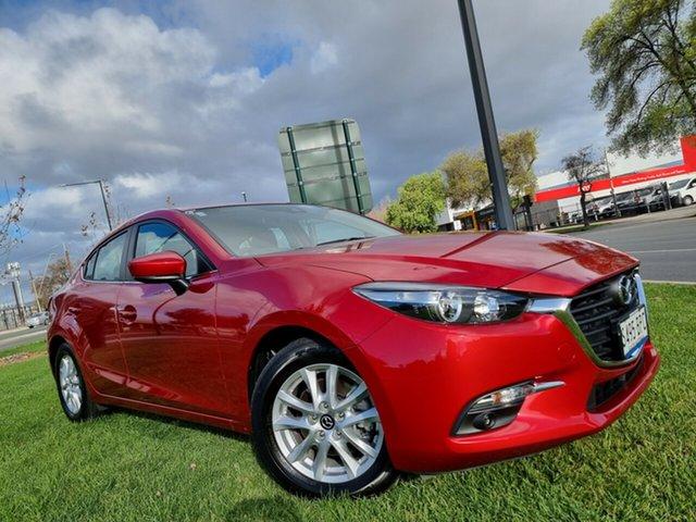 Used Mazda 3 BN5278 Maxx SKYACTIV-Drive Hindmarsh, 2017 Mazda 3 BN5278 Maxx SKYACTIV-Drive Red 6 Speed Sports Automatic Sedan