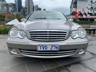 2005 Mercedes-Benz C-Class W203 MY2006 C200 Kompressor Elegance Gold 5 Speed Sports Automatic Sedan.