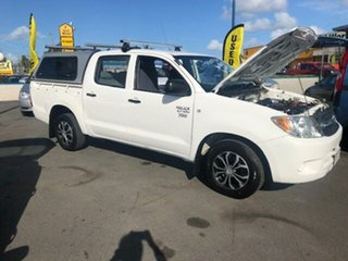2008 Toyota Hilux Workmate White Automatic Dual Cab.