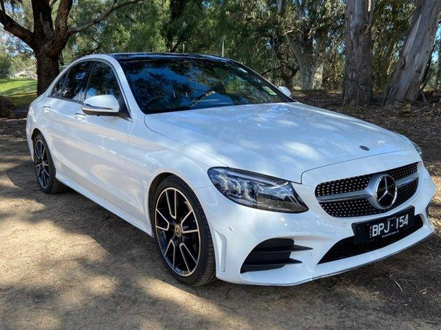 Demo Mercedes-Benz C-Class W205 801MY C300 9G-Tronic Epsom, 2021 Mercedes-Benz C-Class W205 801MY C300 9G-Tronic White 9 Speed Sports Automatic Sedan