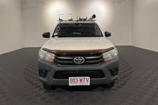 2016 Toyota Hilux GUN125R Workmate White 6 speed Automatic Cab Chassis.