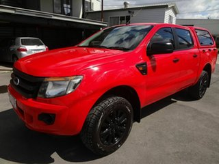 2014 Ford Ranger PX XL 2.2 Hi-Rider (4x2) Red 6 Speed Automatic Crew Cab Pickup.