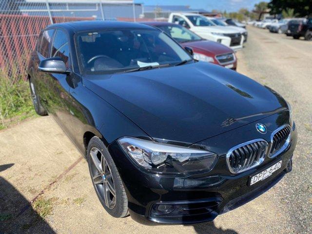 Used BMW 1 Series F20 LCI 118i Steptronic Sport Line Wickham, 2016 BMW 1 Series F20 LCI 118i Steptronic Sport Line Black Sapphire 8 Speed Sports Automatic