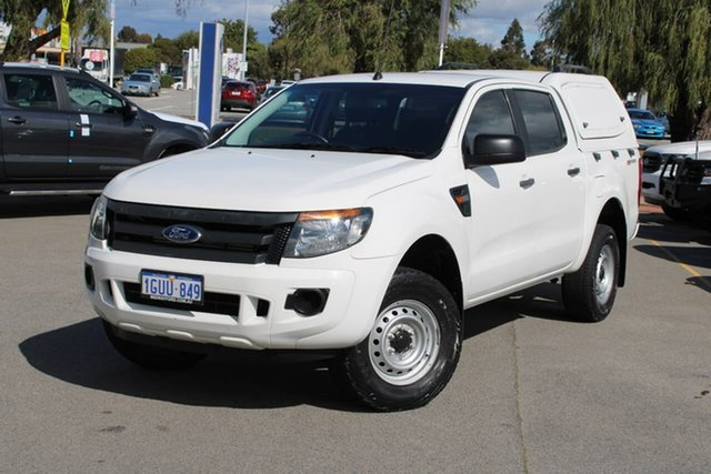 Used Ford Ranger PX MkII XL Hi-Rider Midland, 2015 Ford Ranger PX MkII XL Hi-Rider White 6 Speed Sports Automatic Cab Chassis
