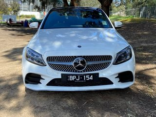 2021 Mercedes-Benz C-Class W205 801MY C300 9G-Tronic White 9 Speed Sports Automatic Sedan.