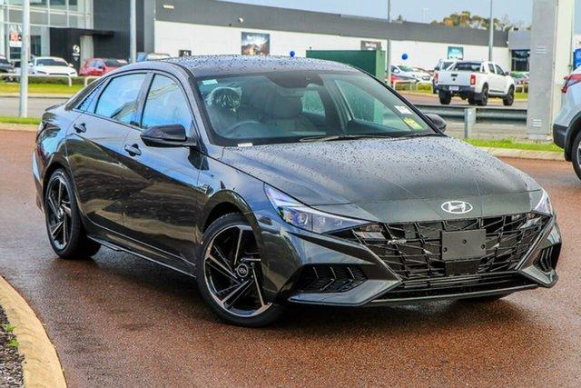New Hyundai i30 CN7.V1 MY21 N Line D-CT Premium Rockingham, 2021 Hyundai i30 CN7.V1 MY21 N Line D-CT Premium Iron Grey 7 Speed Sports Automatic Dual Clutch