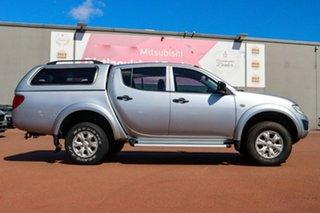 2013 Mitsubishi Triton MN MY13 GLX Double Cab Silver 5 Speed Manual Utility.