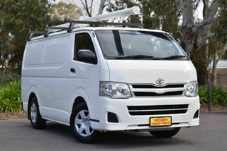 2012 Toyota HiAce KDH201R MY11 LWB White 5 Speed Manual Van.
