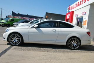 2011 Mercedes-Benz C250 W204 MY11 BE White 7 Speed Automatic G-Tronic Coupe.