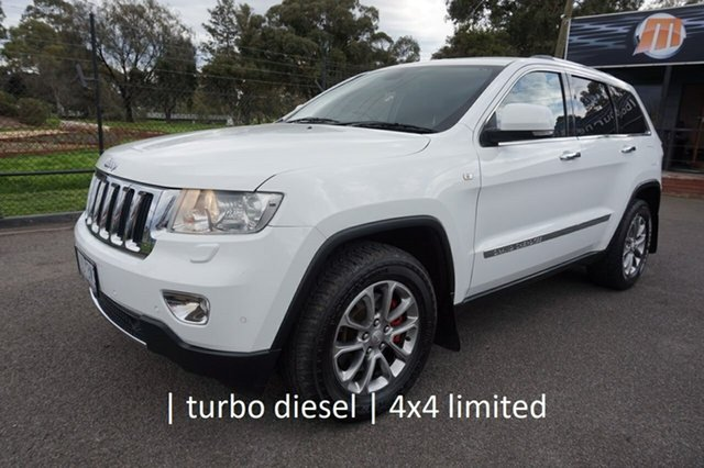 Used Jeep Grand Cherokee WK MY2013 Limited Dandenong, 2013 Jeep Grand Cherokee WK MY2013 Limited Bright White 5 Speed Sports Automatic Wagon