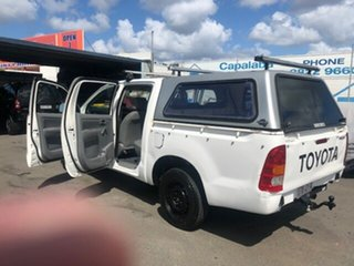 2008 Toyota Hilux Workmate White Automatic Dual Cab